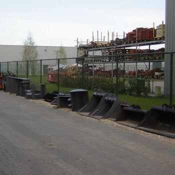 snelwissels graafbakken sorteergrijpers rubber tracks